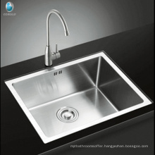 Factory Price Top Mount Drop-In SUS304 Stainless Steel Single Bowl Kitchen Sink